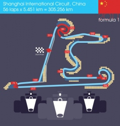 formula 1 China circuit vector image