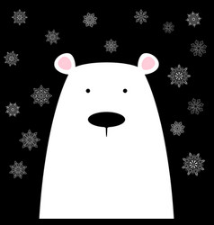 Funny cute polar bear vector