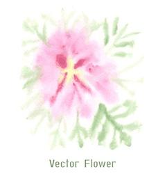 Gentle pink watercolor flower vector