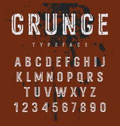Grunge alphabet 008 vector
