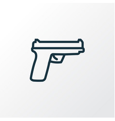 gun outline symbol premium quality isolated vector image