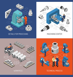 Heavy industry isometric design concept vector