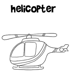 Helicopter art collection vector