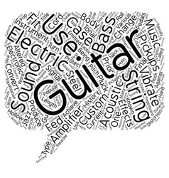 History Of The Electric Guitar text background vector image