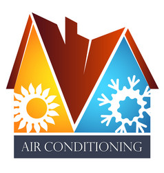 House air conditioning symbol vector