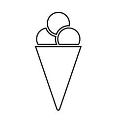 ice cream cone black color icon vector image vector image