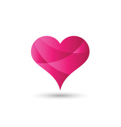 Icon logo for love heart perfect for valentines vector