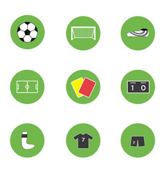 icon sport soccer football set vector image
