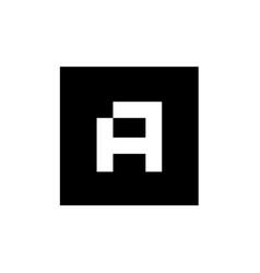 Initial alphabet a logo icon square letter a logo vector