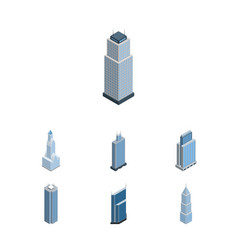 Isometric construction set of cityscape urban vector