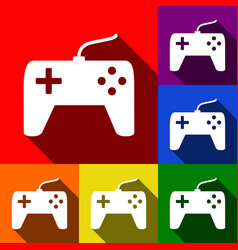 joystick simple sign set of icons with vector image