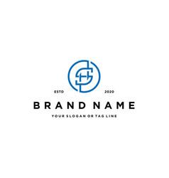 Letter hs logo design vector