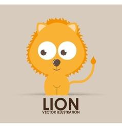 lion cute design vector image