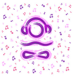 Lounge chillout and relax music logo icon vector