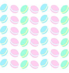 macaron wallpaper on white background vector image