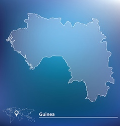 Map of Guinea vector image