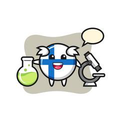 Mascot character finland flag badge as a vector
