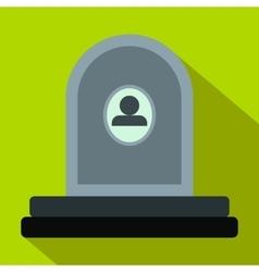 Memorial flat icon vector image