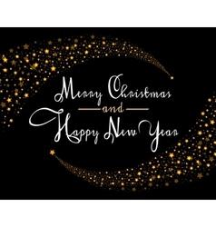 Merry Christmas Star card template vector