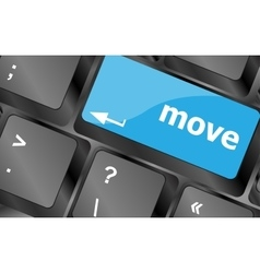 Move button word on keyboard keys Keyboard keys vector image vector image