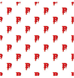 P letter isolated on white background vector