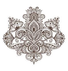 Pattern henna floral elements vector