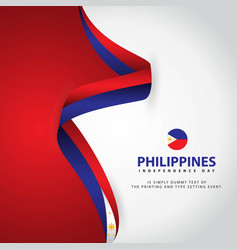 Philippines independence day template design vector