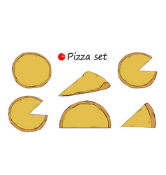 pizza template set italian vector image