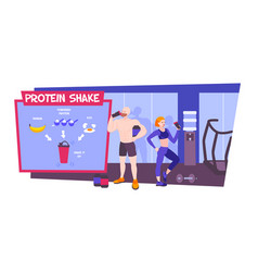 Protein shake schematic composition vector