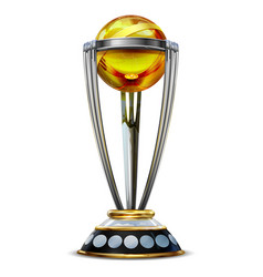 Realistic cricket world cup trophy on plain vector