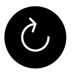 Refresh solid icon arrow in circle vector