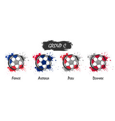 set of national football team group c vector image