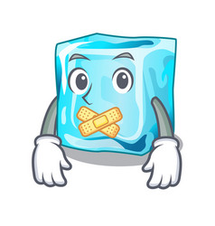 Silent ice cubes on the cartoon funny vector