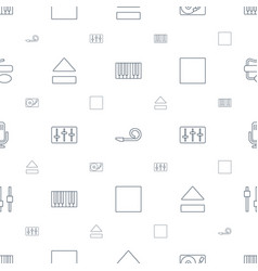 sound icons pattern seamless white background vector image