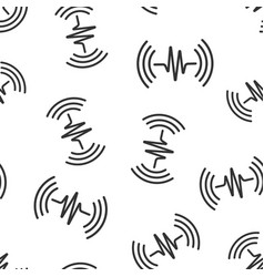 Sound wave icon seamless pattern background heart vector