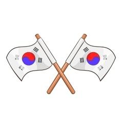 South Korea flags icon cartoon style vector image