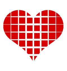 square in heart icon simple style vector image