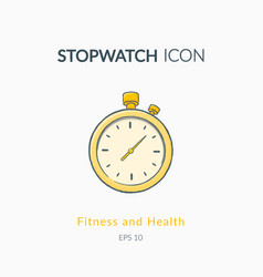 stopwatch icon isolated on white vector image