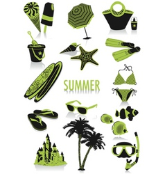 summer silhouettes vector image