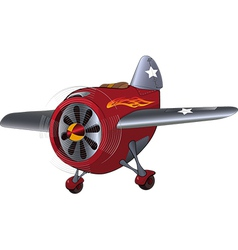 The toy plane vector image