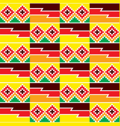tribal seamless textile pattern - kente vector image