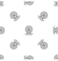 Water energy wheel pattern seamless vector
