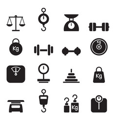 Weight icon set vector