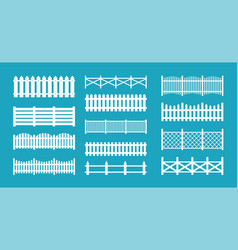 wooden and metal fences vector image