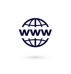 Www flat icon concept for design world wide web vector