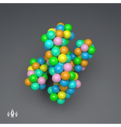 3D Molecule Structure Science Technology Design vector image vector image