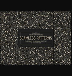 abstract stippled seamless patterns vector image vector image