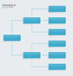 Corporate organization chart template with vector image