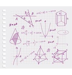 Mathematics - geometric shapes vector image vector image