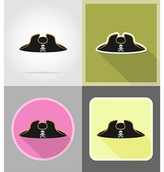 pirate flat icons 04 vector image
